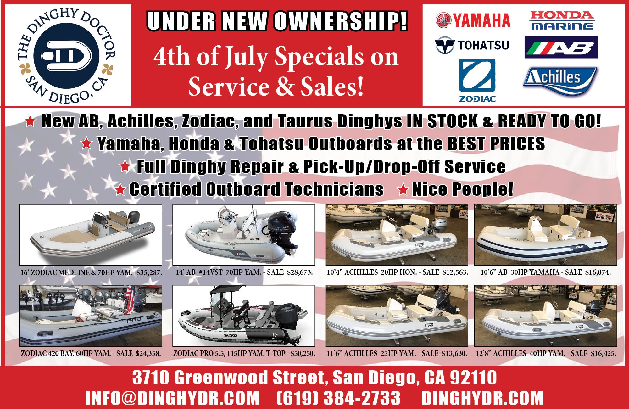 Yamaha, Honda & Tohatsu Ouboard Motors in San Diego - Dinghy